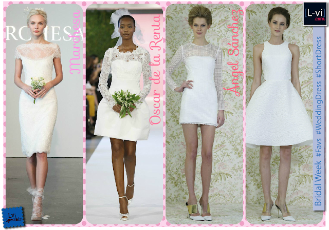 [SS15] Bridal dresses:Short dress / Vestidos de novia cortos L-vi.com