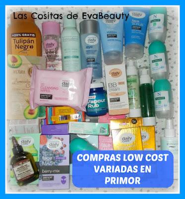 Compras low cost variadas en Primor