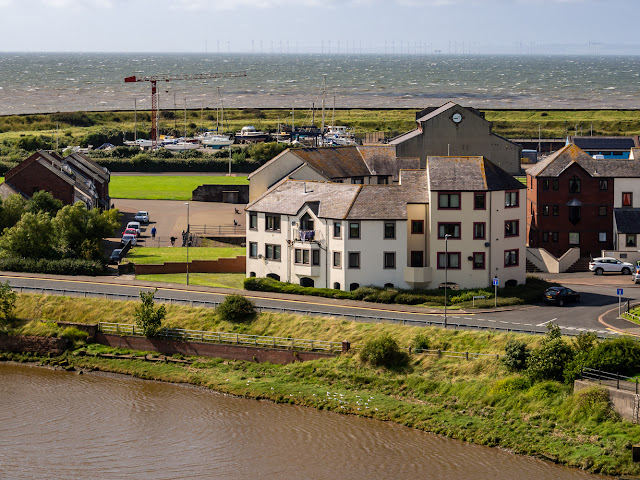 Photo of view across the River Ellen to the Solway Firth with the marina's hard-standing in the distance