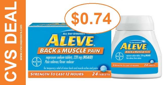 Aleve Back & Muscle CVS Deal 98-914
