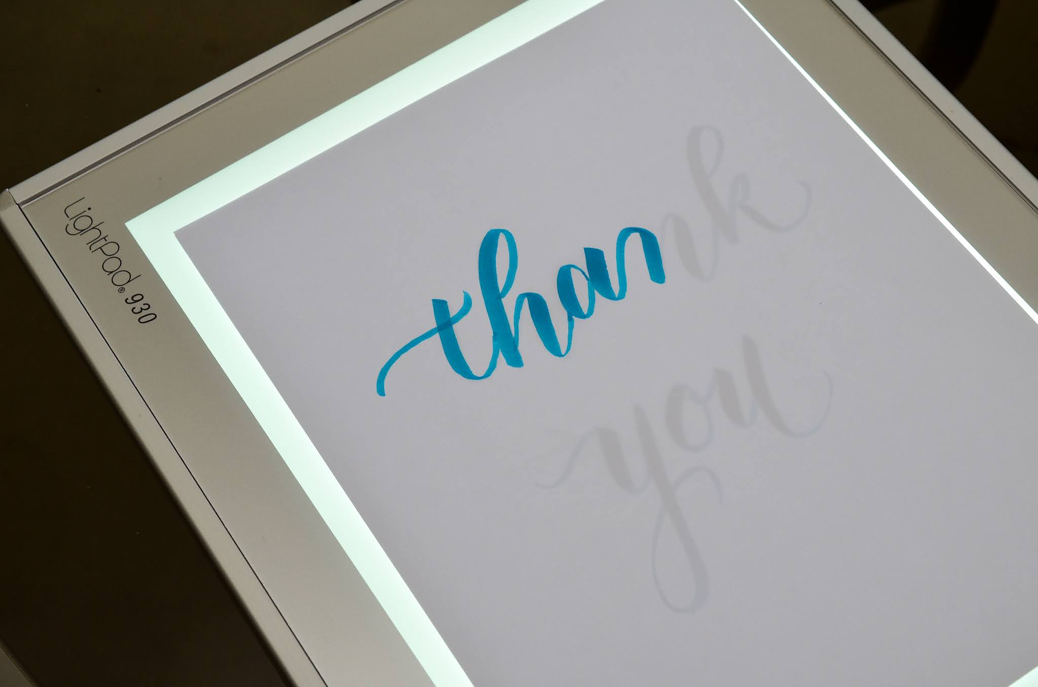How to Use a Light Pad for Lettering