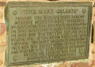 Un memoriale all'equipaggio della Mary Celeste, scomparsa senza lasciare traccia