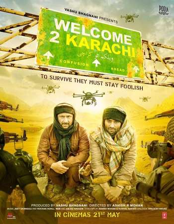 Poster Of Welcome 2 Karachi 2015 Hindi 720p HDTV x264 Watch Online Free Download downloadhub.in
