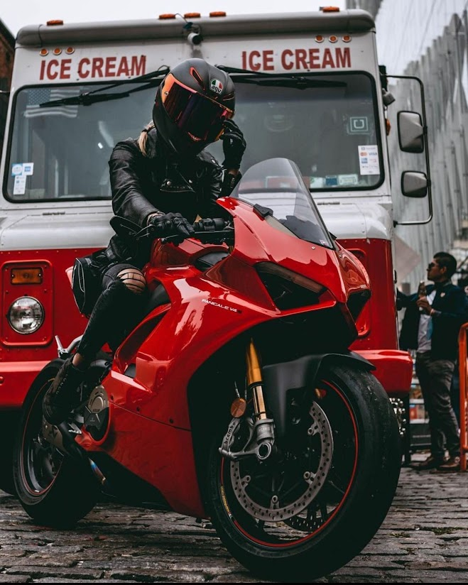 Panigale Girl - Photographer Unknown