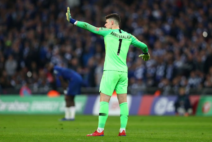PICTURES: Chelsea players Furious with Kepa during Liverpool clash after another odd blunder