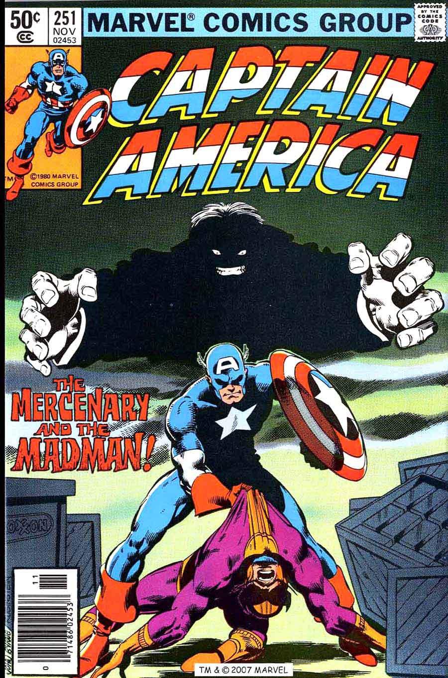 Captain America #251 marvel 1980s bronze age comic book cover art by John Byrne