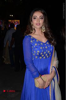 Telugu Actress Tejaswi Madivada Pos in Blue Long Dress at Nanna Nenu Na Boyfriends Audio Launch  0098.JPG