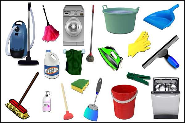 اسماء ادوات التنظيف المنزلية بالفرنسية