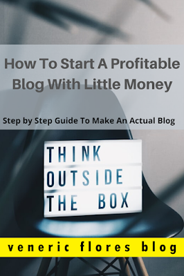 how to make a blog with just less money pinterest pin