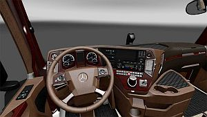 Brown skin interior for Mercedes MP4 by eskioglu
