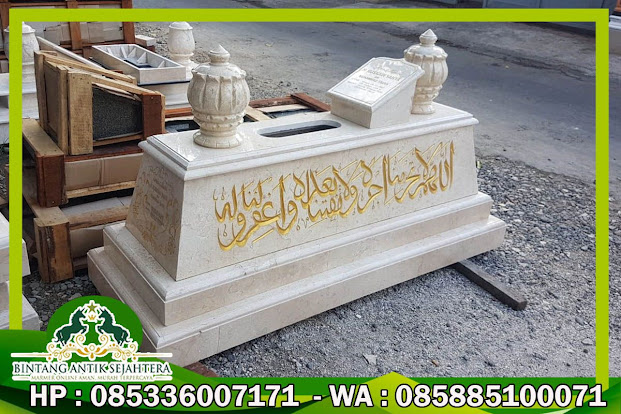 Kijing Marmer, Batu Nisan Makam Marmer, Kijing Makam Marmer Kaligrafi