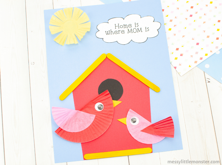 Home is where Mom is Mothers Day craft for kids