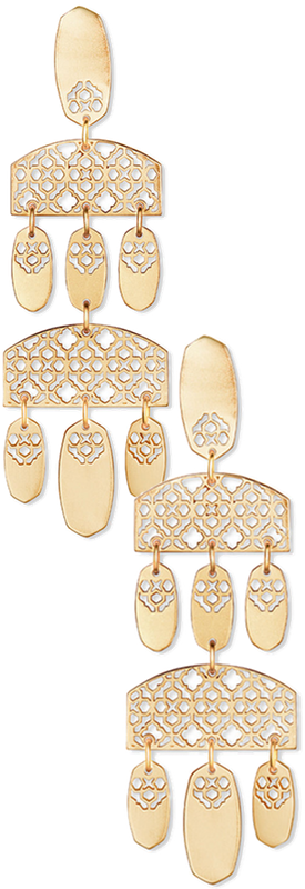 Kendra Scott Emmett Filigree Chandelier Dangle Earrings