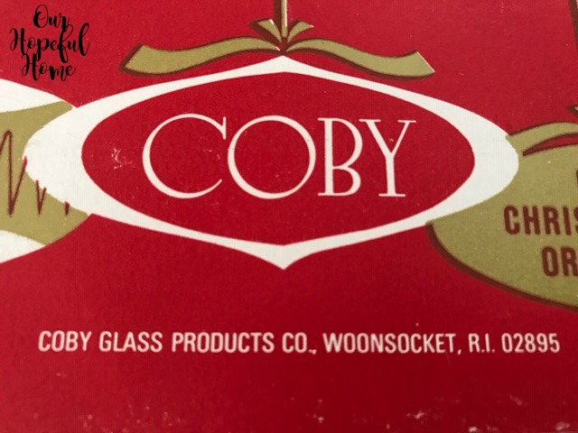 Coby Glass Products Woonsocket Rhode Island red box