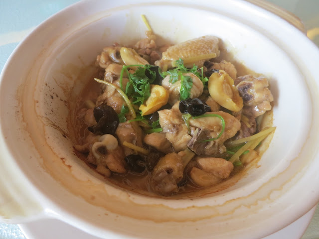 Braised Kampung Chicken with Baby Abalone