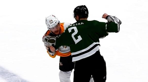 olvier oleksiak nhl hockey fight