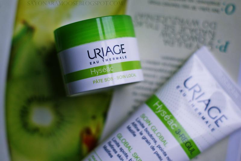 Uriage Hyseac 3-regul krem pasta SOS pielęgnacja skóry tłustej trądzikowej recenzja blogspot