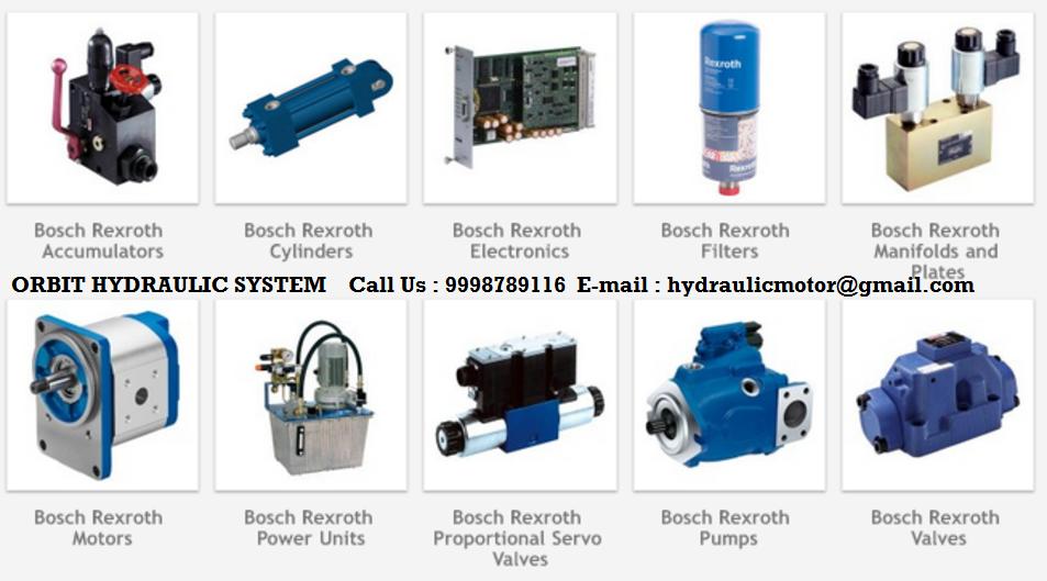 Bosch Rexroth Hydraulic Valves Pumps Motors Suppliers - ORBIT Hydraulic System: Bosch Rexroth ...