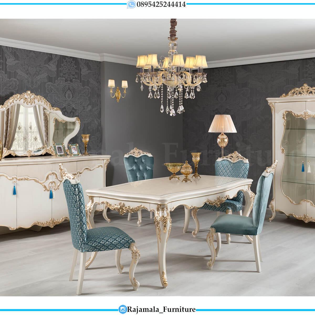 Best Sale Meja Makan Mewah Terbaru Classic Luxury Furniture Jepara RM-0599