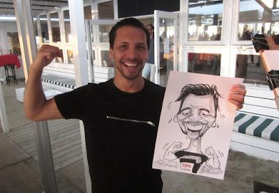 karikatuur tekening van man