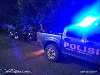 Personil Polsek Cendana Polres Enrekang Melaksanakan Patroli Blue Light Pada Jam Yang Rawan Kamtibmas