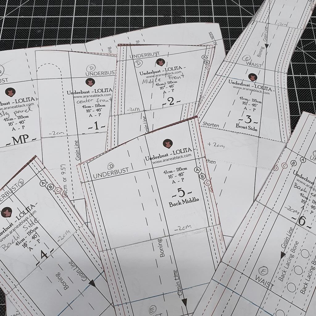 sewing pattern corsetmaking lolita underbust corset aranea black how to make a corset minn's things