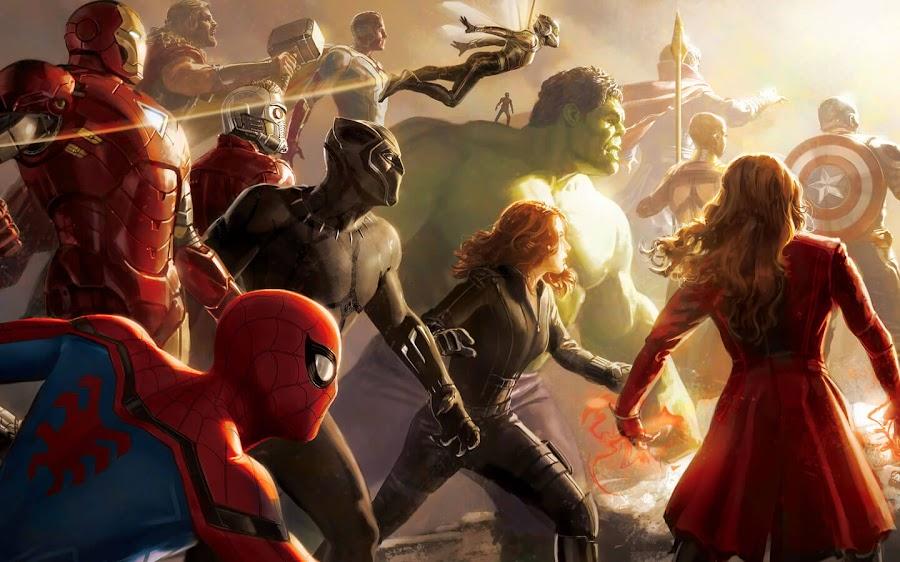 avengers infinity war art