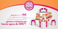 Logo Con Plasmon vinci carnet di buoni spesa da 50 euro