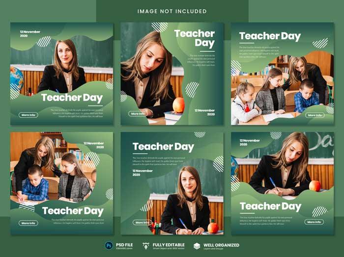 Teacher Day Social Media PSD Template