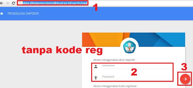gambar cara login operator dapodik di web dapodikdasmen