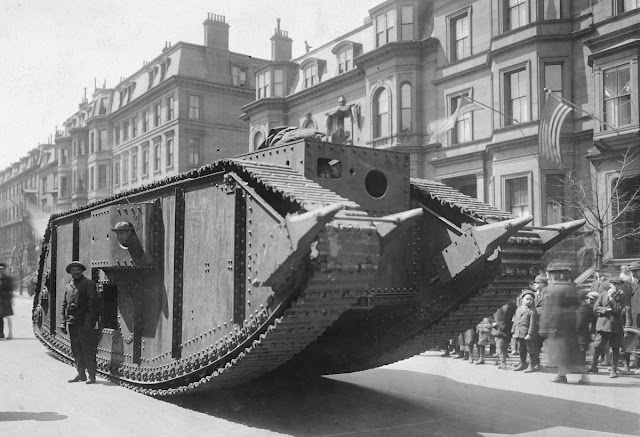 Original caption: American-built tank