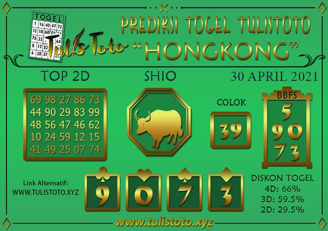 Prediksi Togel HONGKONG TULISTOTO 30 APRIL 2021