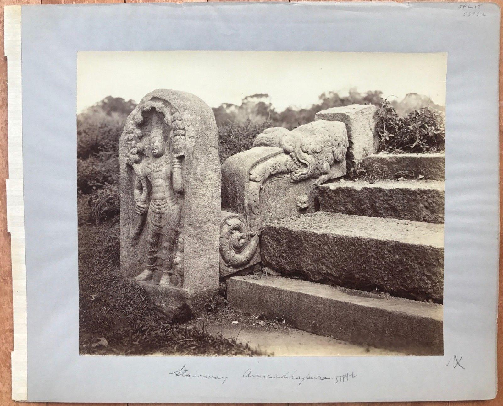 Stairway in Anuradhapura - Sri Lanka, c. 1870's