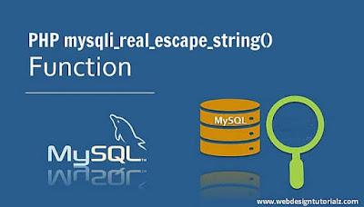 PHP mysqli_real_escape_string() Function