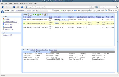Deluge – One of best free torrent clients