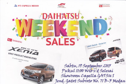 Daihatsu Weekend Sales Medan (SUMUT)