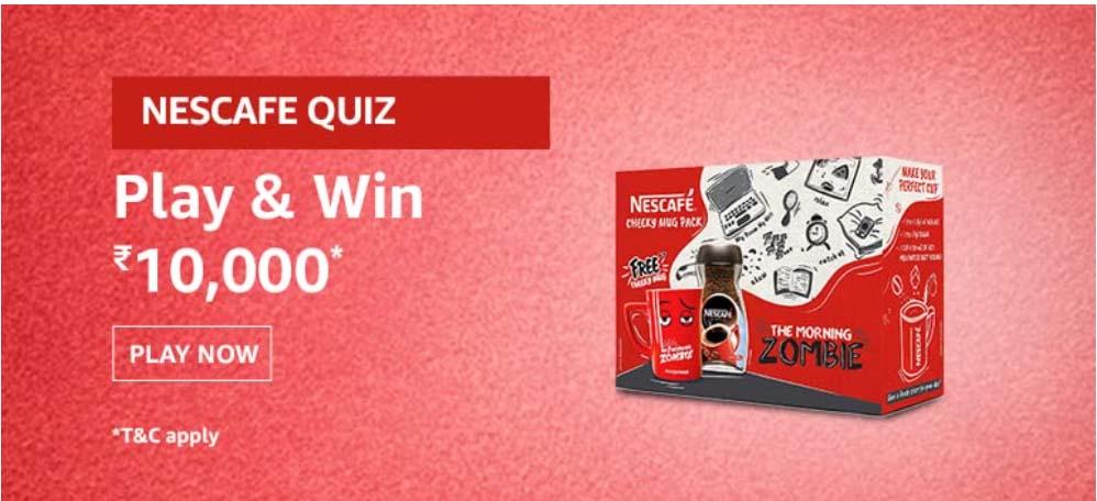 Amazon Nescafe Quiz Answers