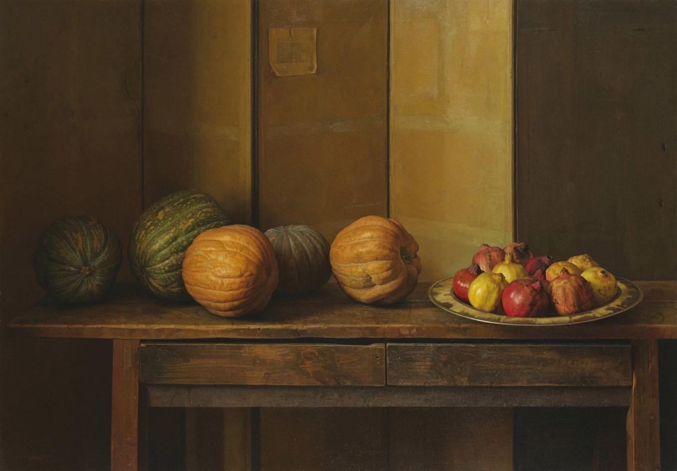 Claudio  ravo Camus Pomegranates and Pumpkins