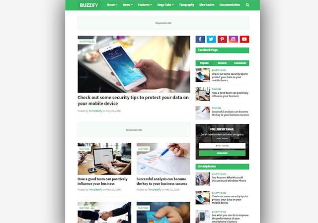 Buzzify Blogger Template, Blogger Templates, Blogger Theme, Best Blogger Templates, Templates, Buzzify Responsive Blogger Template, Templateify