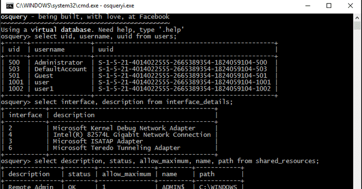osquery windows - Osquery security tool released for windows