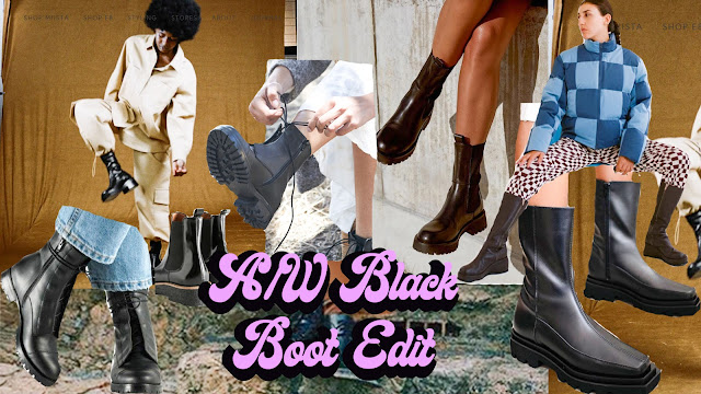autmn winter boot collage