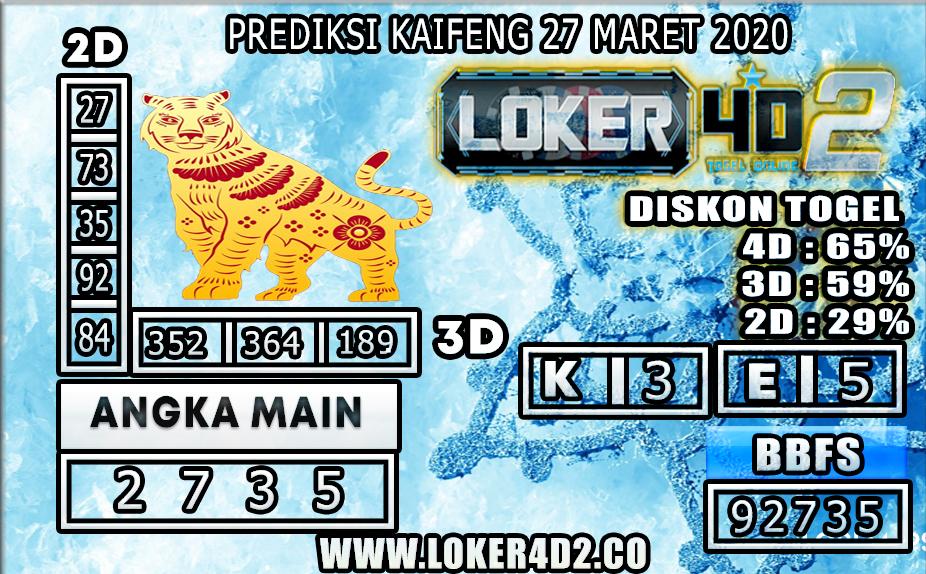 PREDIKSI TOGEL KAIFENG LOKER4D2 27 MARET 2020