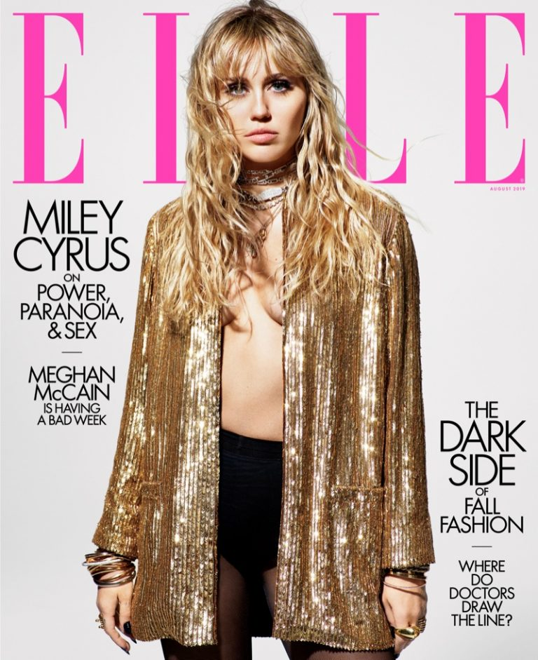 Miley Cyrus for ELLE US August 2019