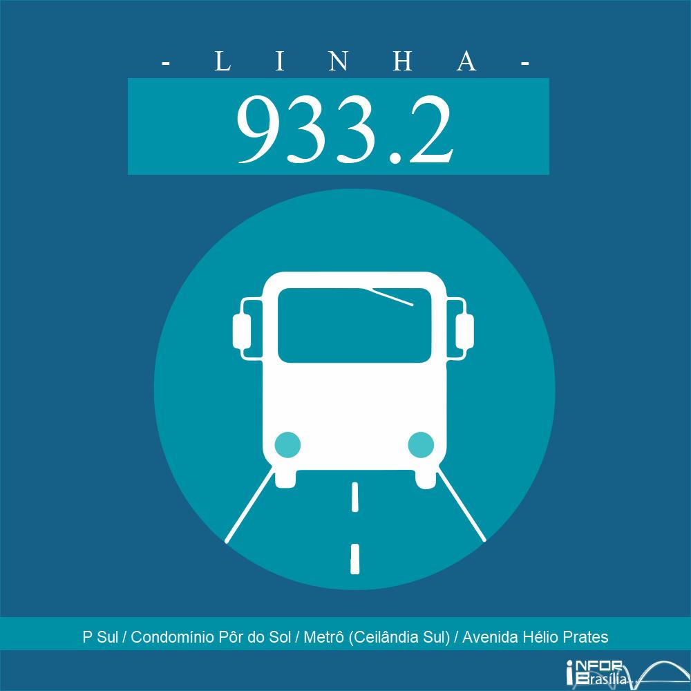 Horário de ônibus e itinerário 933.2 - P Sul / Condomínio Pôr do Sol / Metrô (Ceilândia Sul) / Avenida Hélio Prates