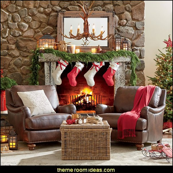 christmas rustic style  Christmas decorating ideas - Christmas decor - Christmas decorations - Christmas kitchen decor - santa belly pillows - Santa Suit Duvet covers - Christmas bedding - Christmas pillows - Christmas  bedroom decor  - winter decorating ideas - winter wonderland decorating - Christmas Stockings Holiday decor Santa Claus - decorating for Christmas - 3d Christmas cards
