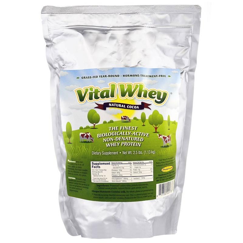 Well Wisdom, Vital Whey, натуральное какао, 1,13 кг (2,5 фунта)