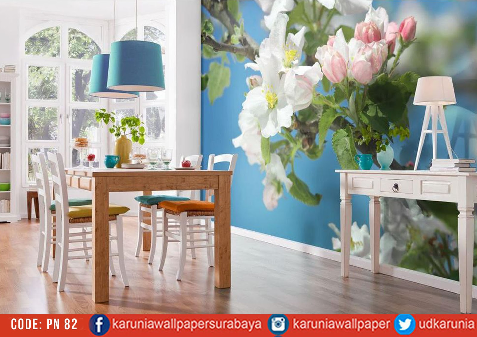 jual wallpaper bunga sakura