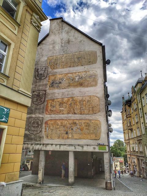centrum miasta Kłodzko, widok na miasto, dolnyśląsk