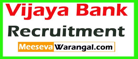 Vijaya Bank Recruitment 2017