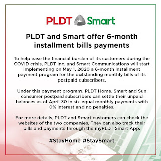 PLDT and SMART Offer 6 Month Installment Bills Payment